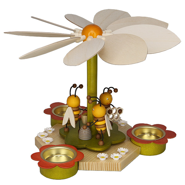 Frühlingspyramide mit Bienen