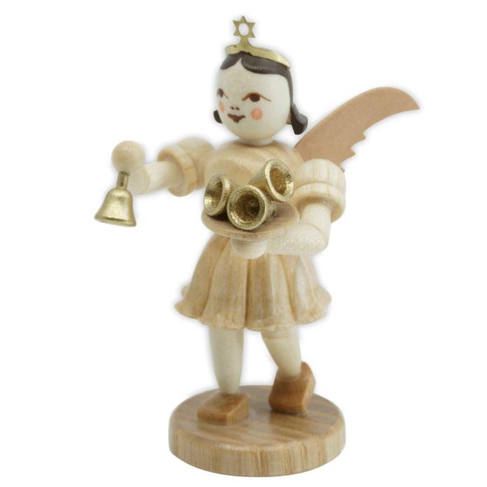 Engel mit Glocken Kurzrockengel natur Fa. Blank Grünhainichen Erzgebirge