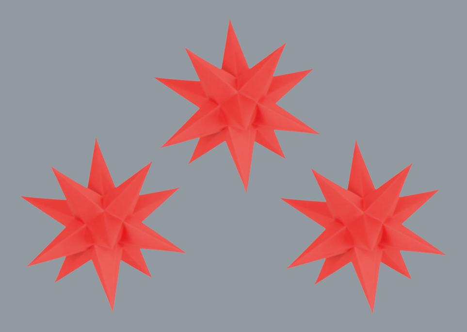 Marienberger Adventssterne 3-Set rot