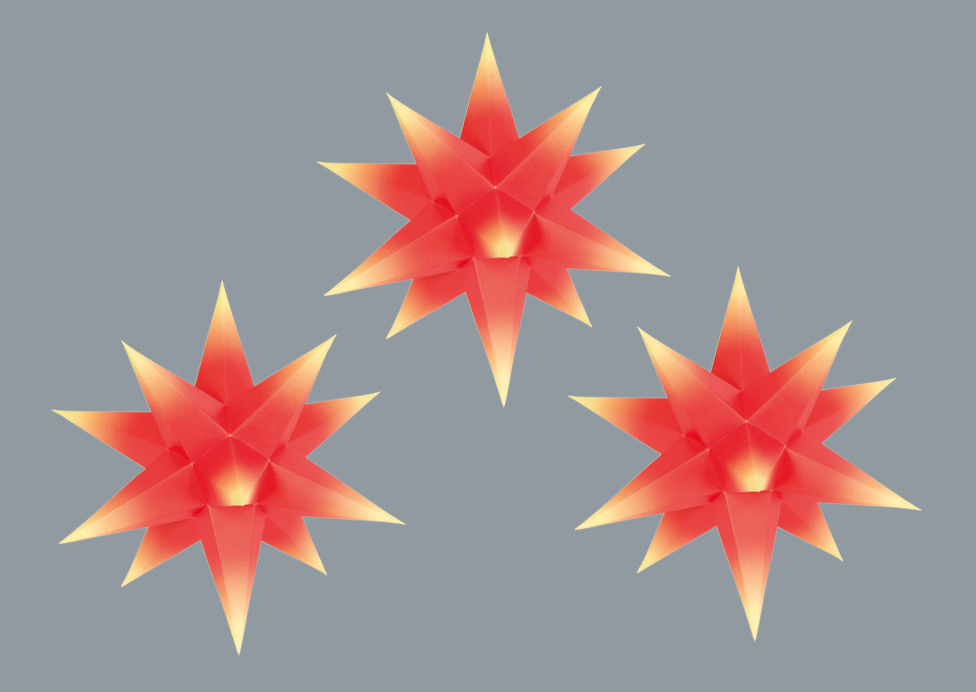 Marienberger Adventssterne 3-Set rot/gelb