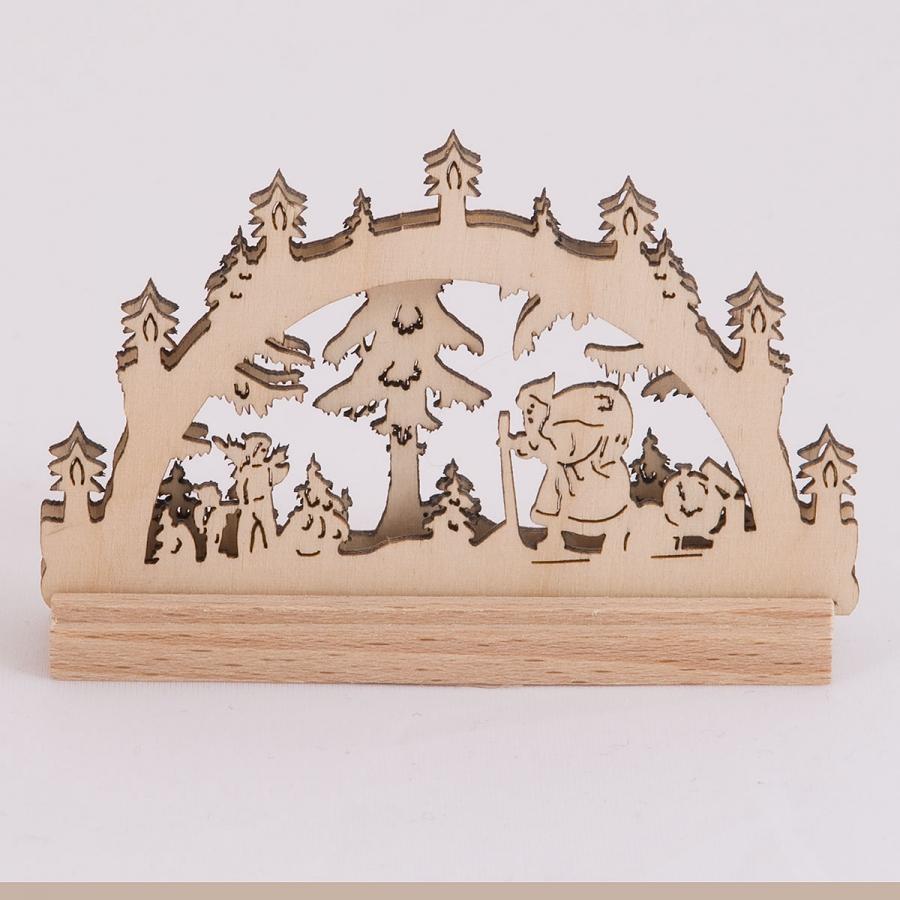 Schwibbogen 2D Weihnachtsmann mini