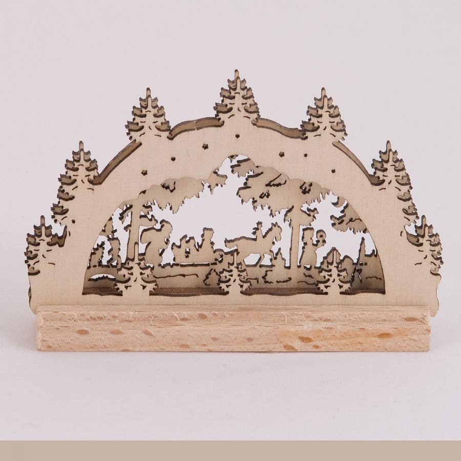 Schwibbogen 2D Winterlandschaft mini
