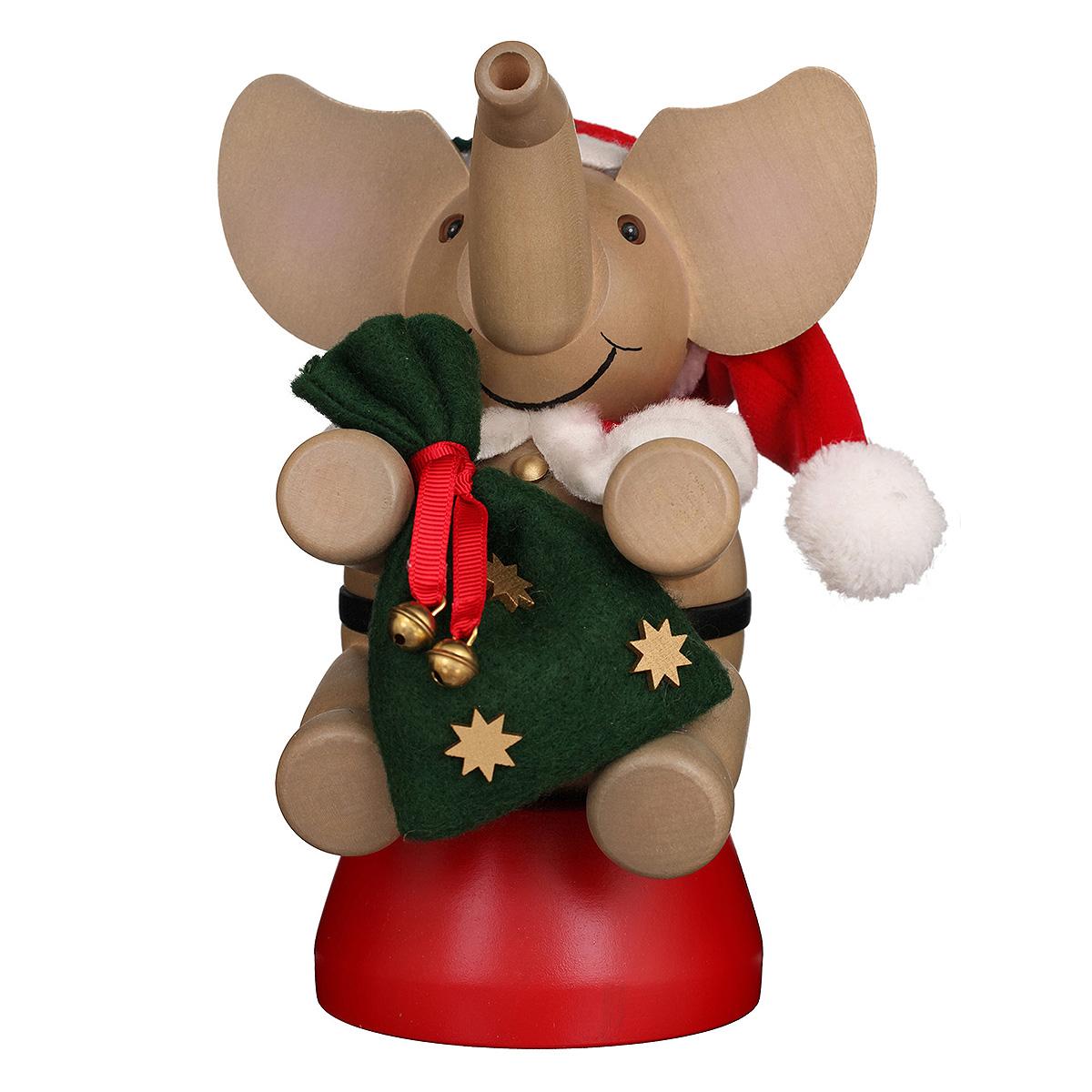 Räuchermann Elefant Weihnachtsmann