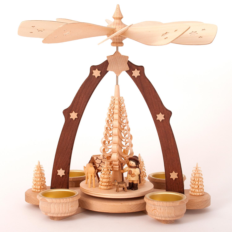 Teelichtpyramide Jäger