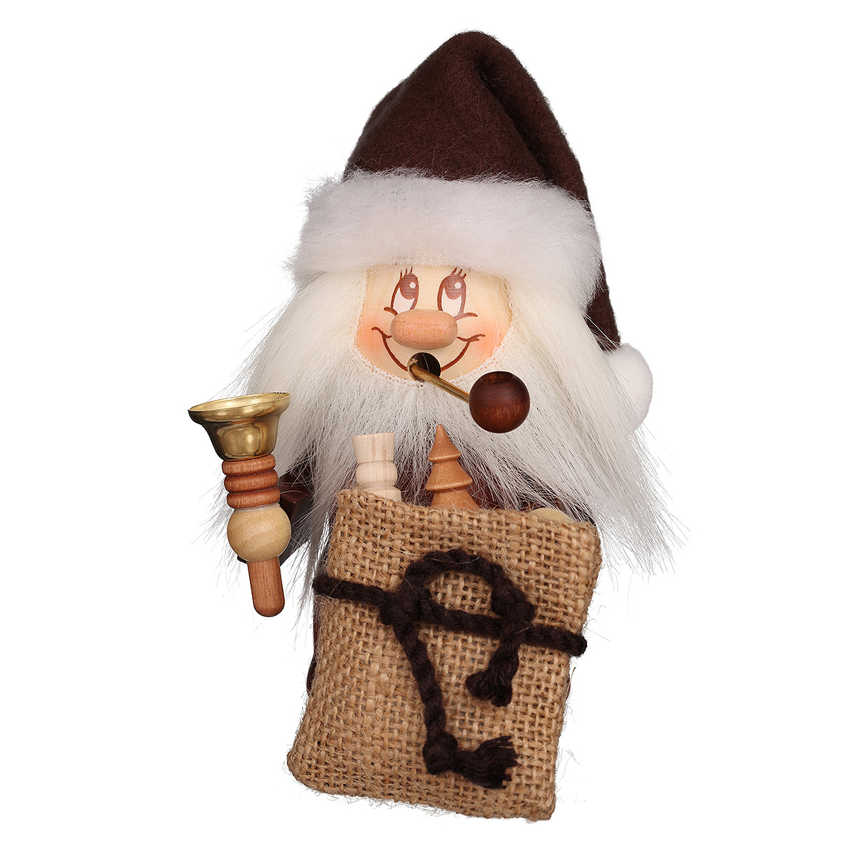 Räuchermann Miniwichtel Weihnachtsmann mit Glocke