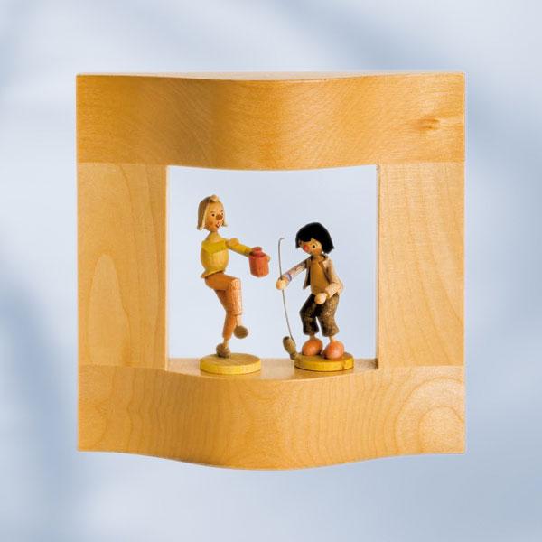 Rahmen - natur - 13cm x 13cm x 3,4cm (ohne Figuren)