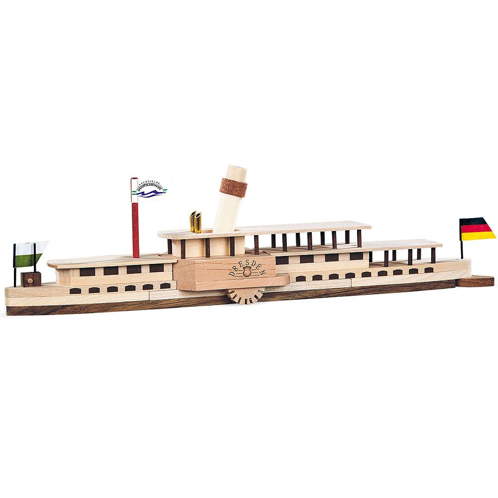 Naturholzbausatz Elbdampfschiff Dresden