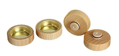 Universal Teellicht-Aufsatz mit 20er Zapfen, Messing